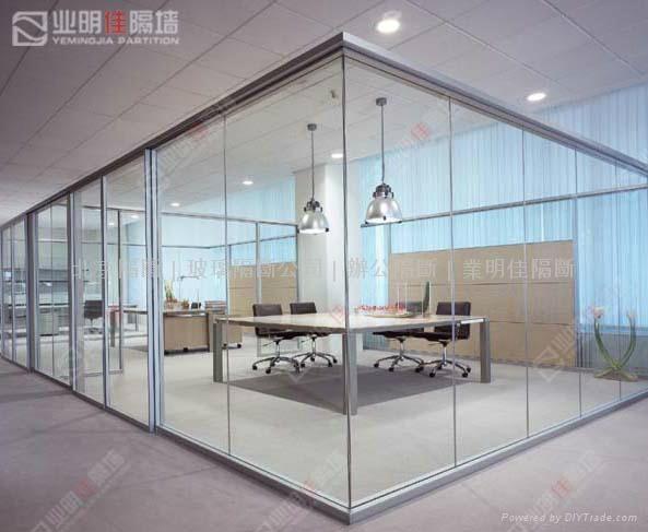 业明佳80系列办公室防火玻璃墙 4