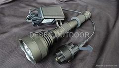 LED战术强光充电手电筒