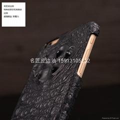 鱷魚皮類手機殼皮邊油