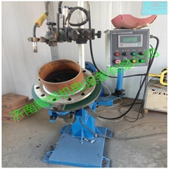 Tube and flange welding machine
