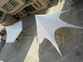 Single top star shade made of PVC Fabric and aluminum poles  3
