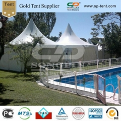 5X10M Twin pagoda tents used as Resting room in PVC fabric and Aluminum frame