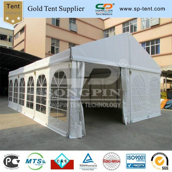 6x9m clear span tent with inner rolled PVC windows 1