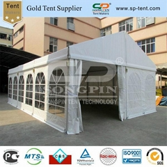 6x9m clear span tent with inner rolled PVC windows