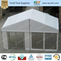 6x9m clear span tent with inner rolled PVC windows 3