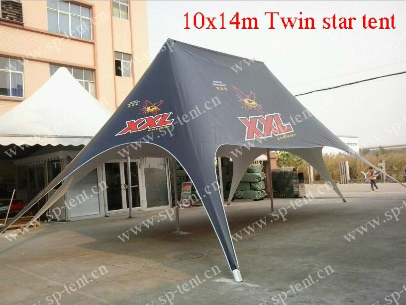 Custom printing 12x17m Twin star tent used for club (0.29cbm/110kgs) 3