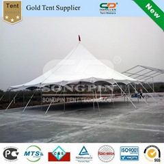 Solid white 40'x40' pole tent set with
