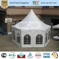 4x8m hexagon circus tent with windows