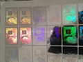 3d Silver AMEX hologram stickers