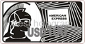 3d Silver AMEX hologram stickers 2