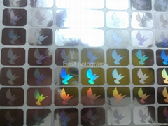 Mini visa Dove  hologram stickers