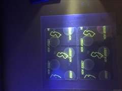 USA NJ State ID overlay with UV light