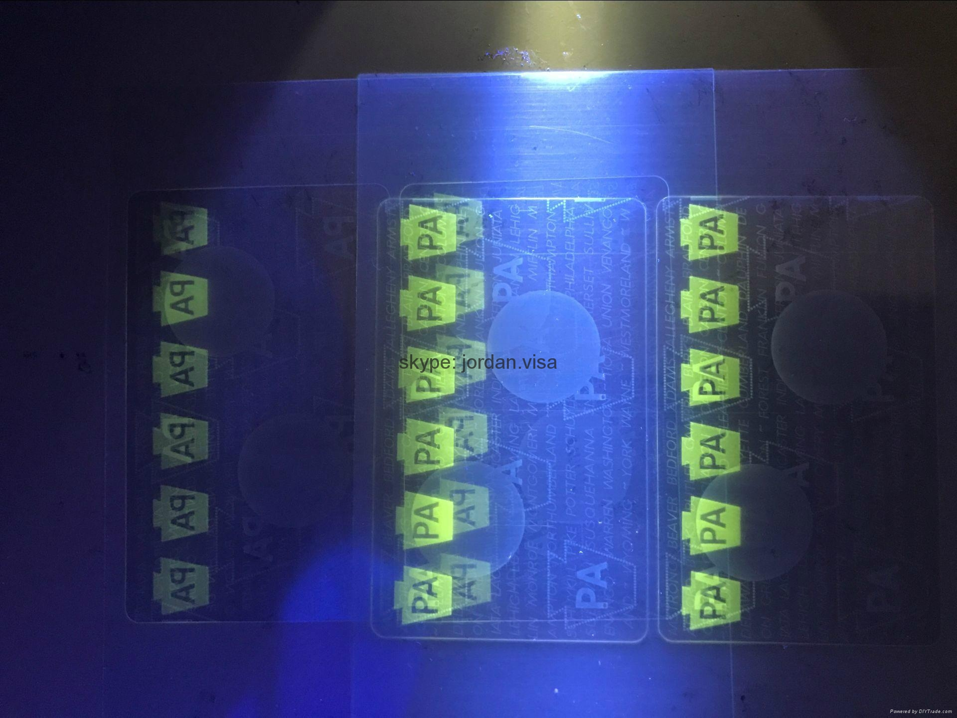 Pennsylvania DL overlay hologram