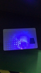 NY card with UV Light front and back