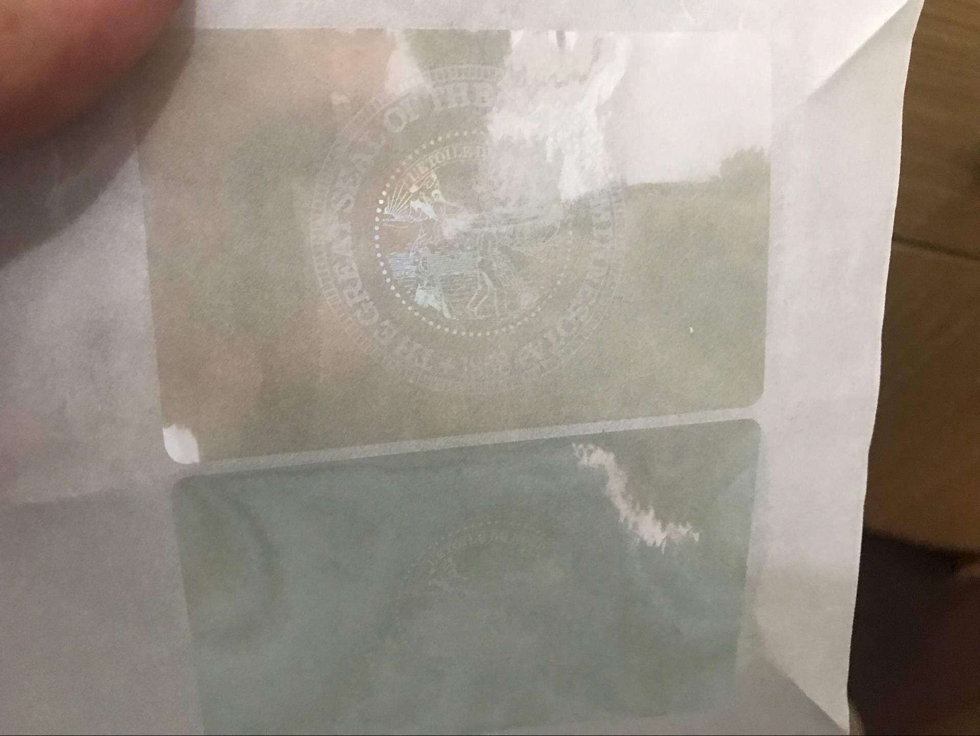 Minnesota ID Overlay hologram