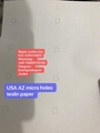 USA AZ Teslin Paper with Micron Holes