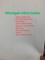 USA Michigan State Teslin paper micro holes