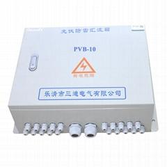 光伏陣列專用光伏防雷匯流箱10進1出 可定製