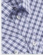 紫御純棉長袖襯衫