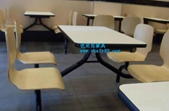 快餐桌椅厂家直销质量免费保修2年 饭店快餐桌椅批发