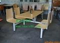 快餐桌椅廠家直銷質量免費保修2年 飯店快餐桌椅批發 3