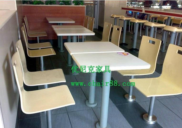快餐桌椅廠家直銷質量免費保修2年 飯店快餐桌椅批發 5
