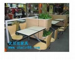 小餐厅快餐桌椅价格,饭馆快餐桌椅供应商,低价快餐桌椅