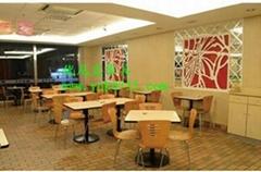 肯德基快餐桌椅首選廠家,高端大氣的快餐桌椅供應商