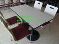 肯德基快餐桌椅  廠家,高端大氣的快餐桌椅供應商 2