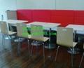 肯德基快餐桌椅  廠家,高端大氣的快餐桌椅供應商 4