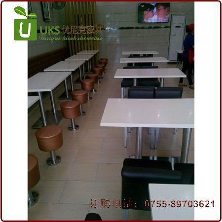 漢堡店快餐桌椅貼心服務的生產廠家,高檔餐飲桌椅供應 1