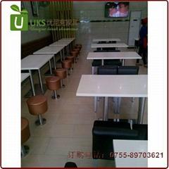 汉堡店快餐桌椅贴心服务的生产厂家,高档餐饮桌椅供应