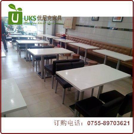漢堡店快餐桌椅貼心服務的生產廠家,高檔餐飲桌椅供應 5