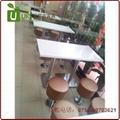 漢堡店快餐桌椅貼心服務的生產廠家,高檔餐飲桌椅供應 4