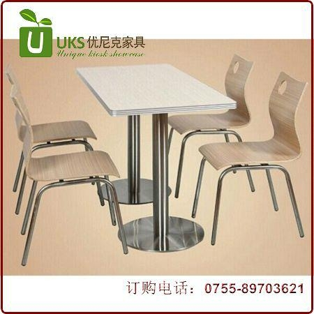 2020快餐桌椅貼心服務  廠家優尼克快餐桌椅 3