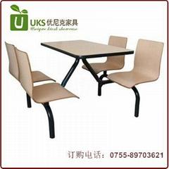 高檔肯德基快餐桌椅  廠家質量有保証餐廳桌椅