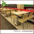 價格便宜的中小型餐廳桌椅,快餐桌椅定製工廠 4