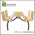大型餐廳快餐桌椅配套,質優價廉的快餐桌椅  廠家 4