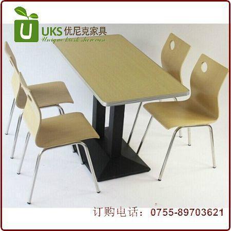 大型餐廳快餐桌椅配套,質優價廉的快餐桌椅  廠家 1