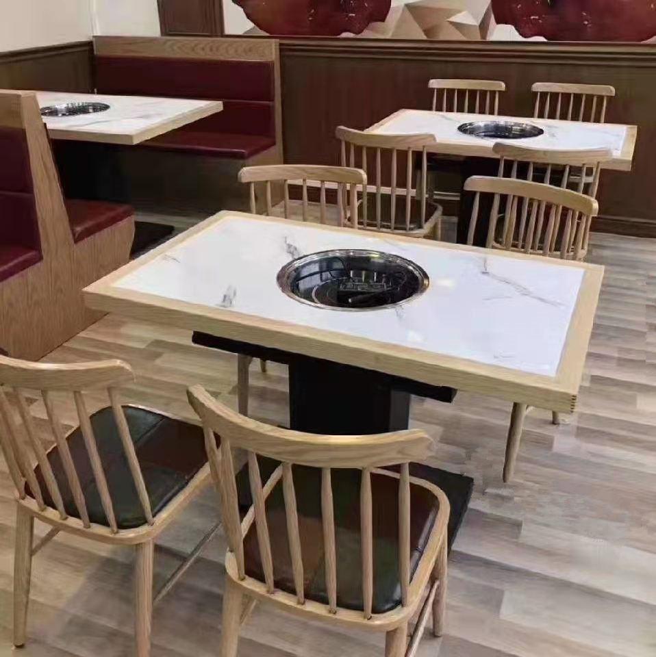 2021大型餐廳桌椅飯店桌椅定做批發廠家 1