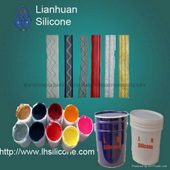 High glossiness silicone screen printing ink
