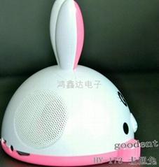 Cartoon pig speakers
