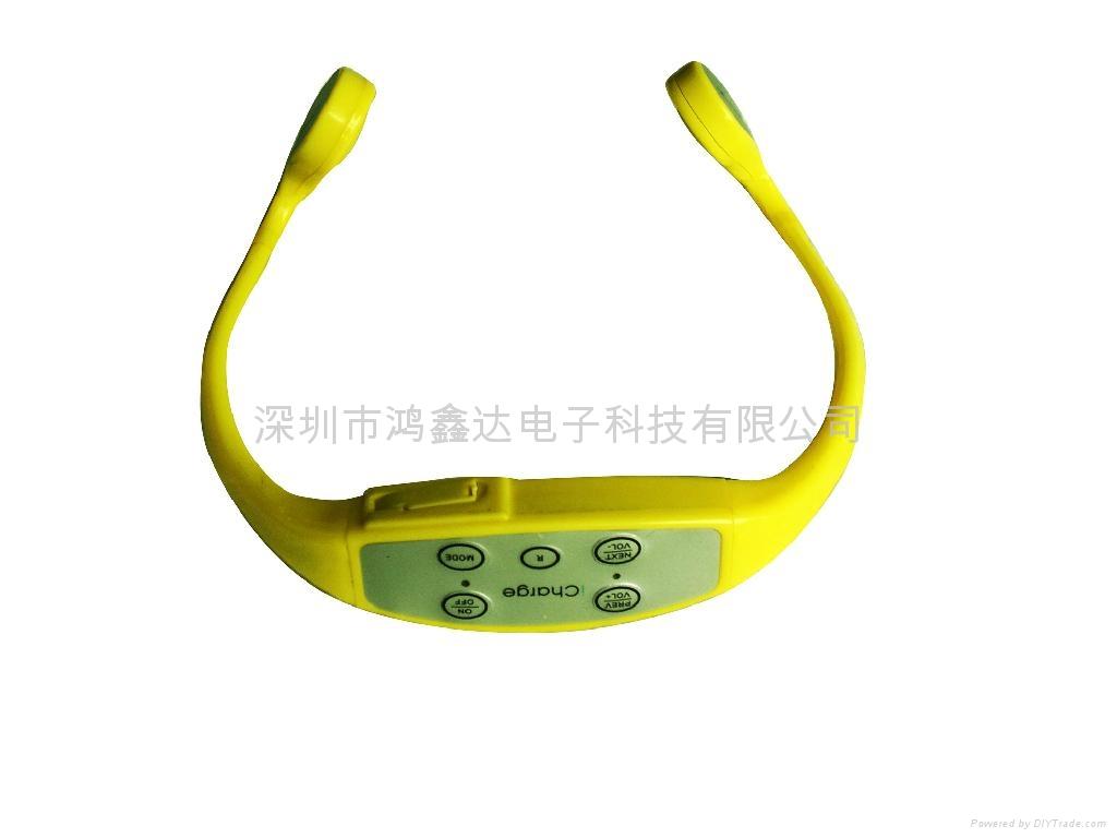 防水游泳MP3头戴式户外跑步播放器无线耳机 1