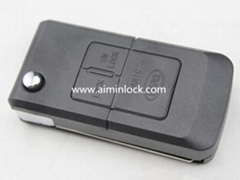 比亚迪F3汽车3键遥控折叠匙壳
