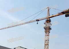 Hammer head tower crane 6t QTZ80 TC6010 for sale in Indonesia