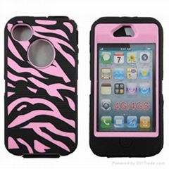 iphone 4 zebra robot case