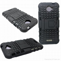 phone case hybrid pctpu case for htc one x combo case