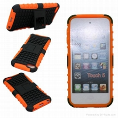 mobile phone case hybrid pctpu case for ipod touch 5 combo case