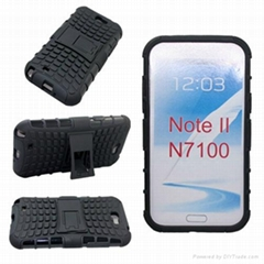 mobile phone case for samsung galaxy note 2,hybrid pctpu case for samsung n7100