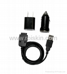 3 in 1 USB car charger and travel charger